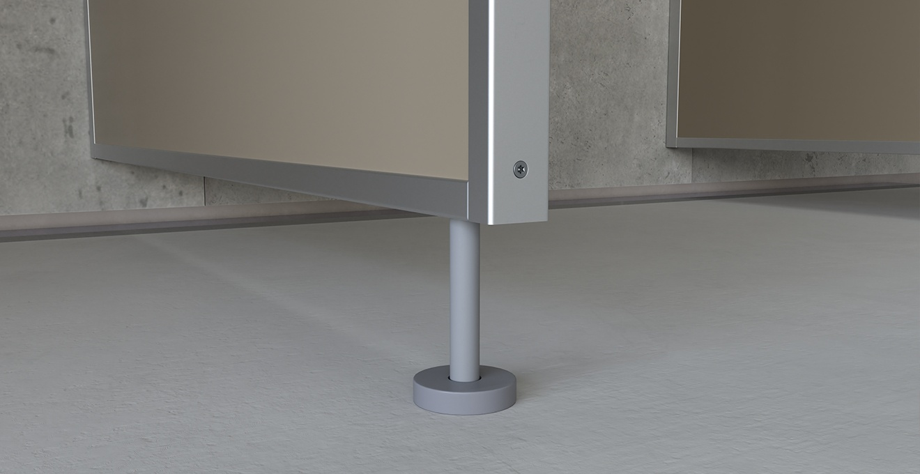 bau-set Duschtrennwände – Standard Bodenbefestigung