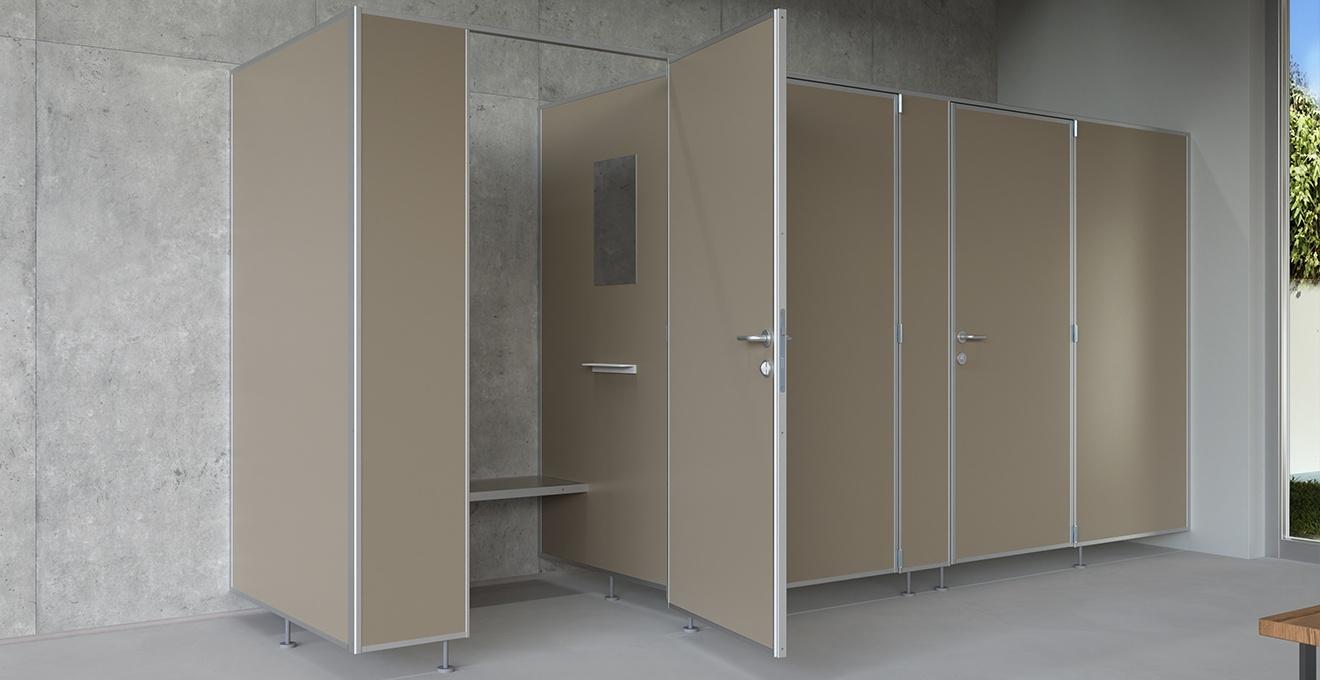 bau-set Umkleidekabinen – Spiegel und Ablagefläche