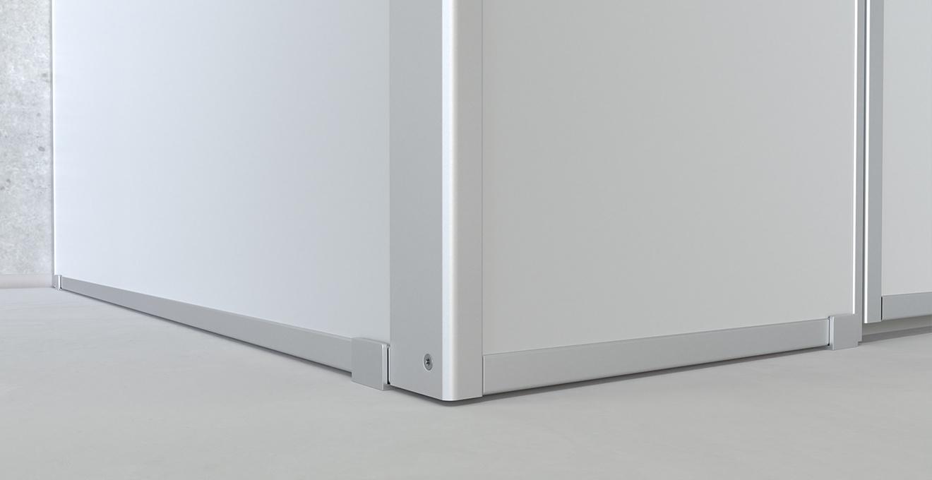 bau-set WC Trennwände – Bodennah