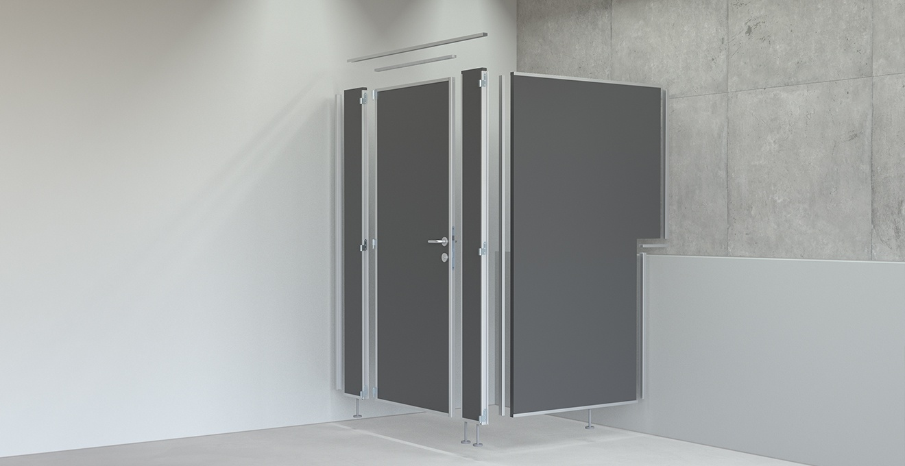 bau-set WC Trennwände – Explosionszeichnung
